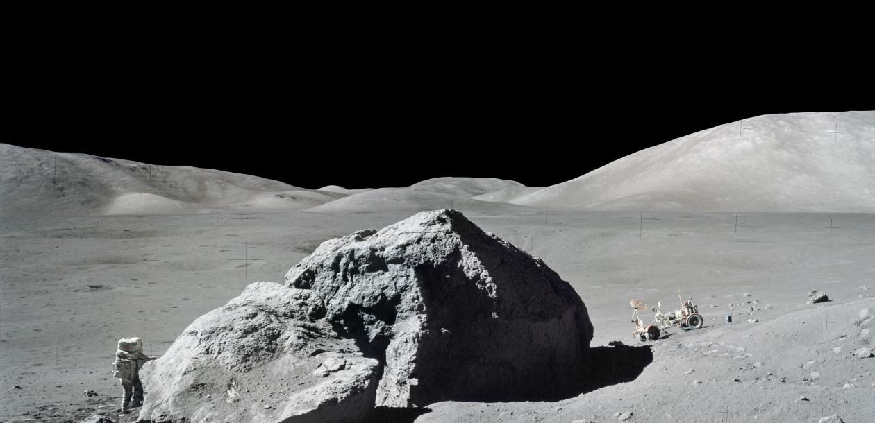Apollo on the moon