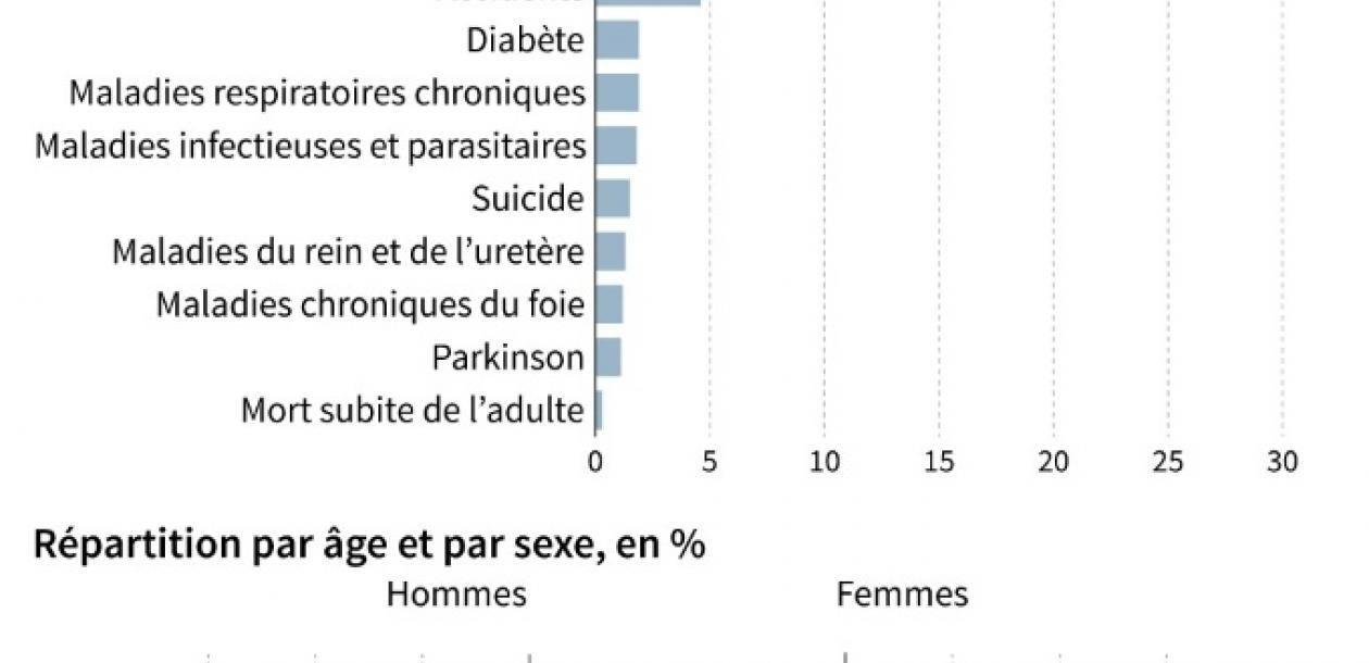 Cancers, maladies cardiaques, suicides : de quoi meurent en France ?   Le blob, l'extra-média