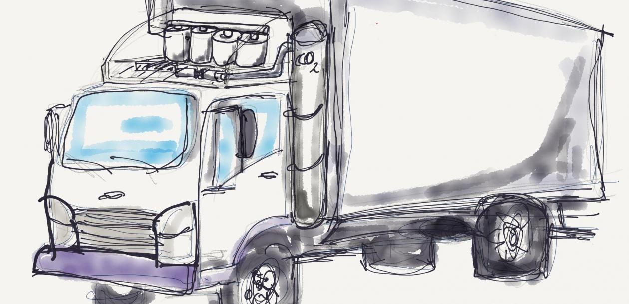 Réduire de 90 % les émissions de CO2 des camions, un concept breveté | Le blob, l'extra-média