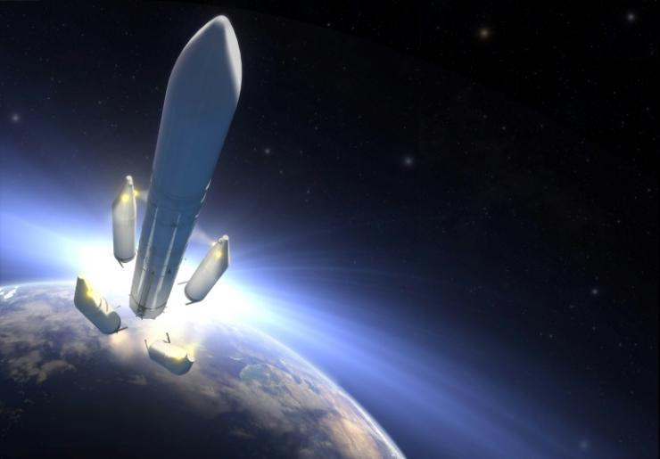 Calendrier Lancement Ariane 2019.La Fusee Ariane Chargee D Envoyer La Sonde Juice Vers