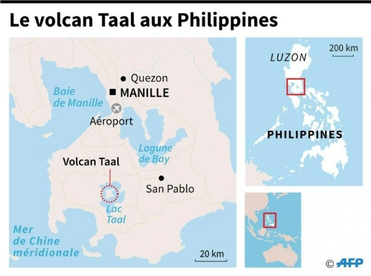 Le volcan Taal aux Philippines © AFP Thorsten EBERDING